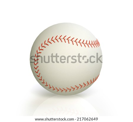 baseball isolated on white background. 3D