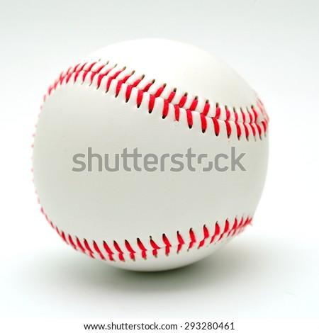 baseball on a white background - stock photo