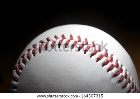 Baseball on Black Background - stock photo