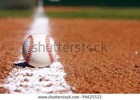 Baseball on the field - stock photo