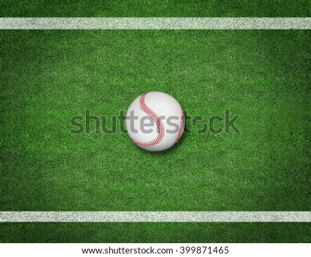 Baseball on the Field. sport background