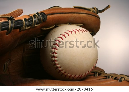 Baseball or Softball Close Up - stock photo