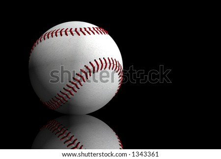baseball over black - 3d illustration