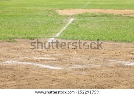 Baseball Pitching mound  - stock photo