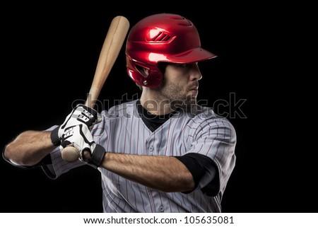 Baseball Player batting - stock photo