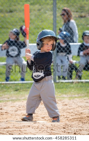 Baseball Player Ready for the Pitch - stock photo