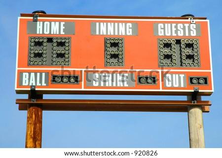 Baseball Score Board - stock photo