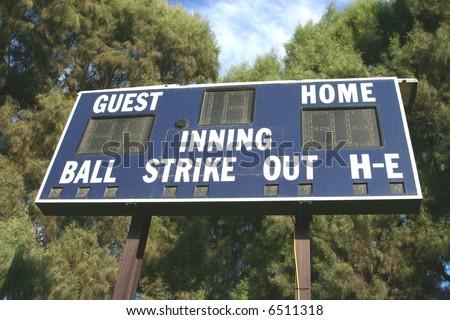 Baseball Scoreboard - stock photo