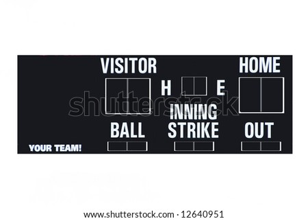 Baseball scoreboard with an area to add your team name - stock photo