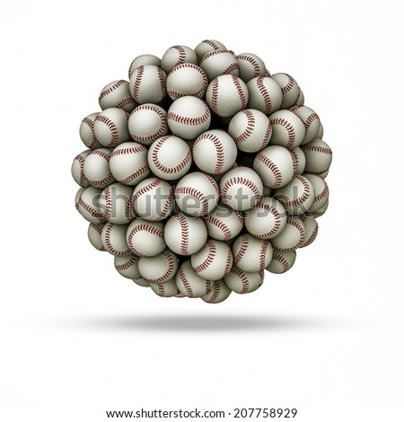 Baseball sphere - stock photo