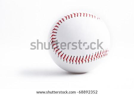 Baseball, Sport, Isolated, Sports Equipment, Seam, Circle, Sphere, Equipment, baseball isolated, New, fastball - stock photo