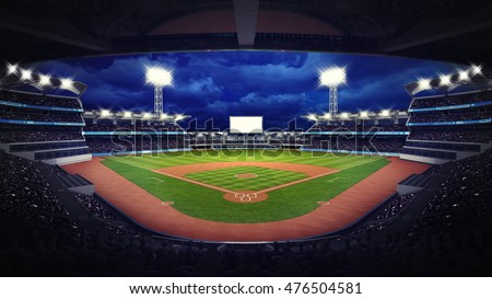 Baseball stadium under roof view fans ilustracin en stock 476504581 baseball stadium under roof view with fans sport theme 3d illustration malvernweather