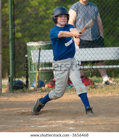 Baseball Swing - stock photo
