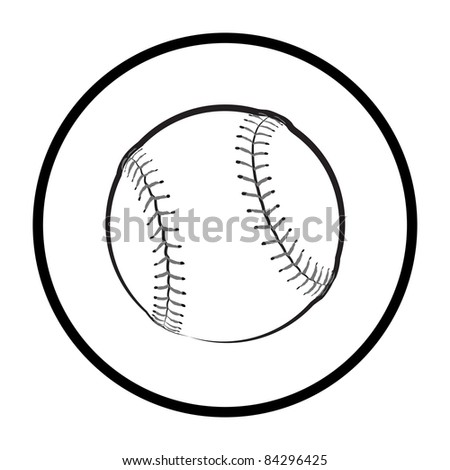 Baseball Symbol - High Resolution JPEG Version. (vector version also available). - stock photo