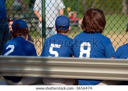 Baseball Team Bench 1 - stock photo