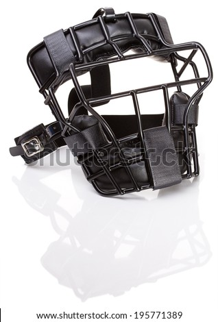 Baseball: Umpire or Catcher Mask Isolated On White - stock photo