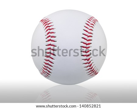 Baseball with clipping path - stock photo