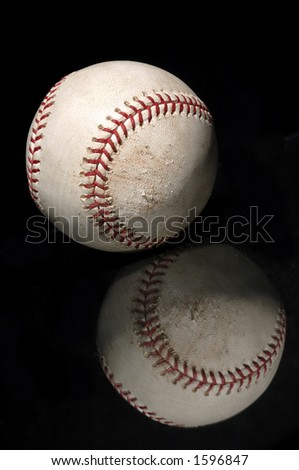 baseball with reflection