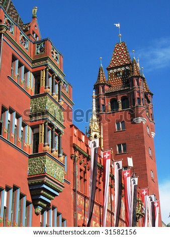 Basel City Hall - stock photo