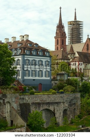 Basel, Switzerland: Cathedral - stock photo