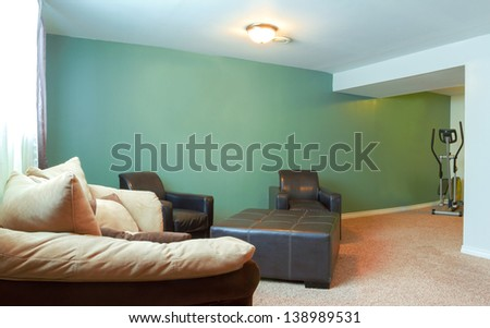 Basement Interior design in a new house - stock photo