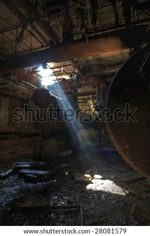 Basement Light - stock photo