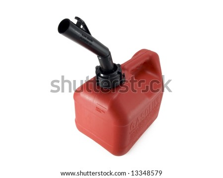 basic gas can - stock photo