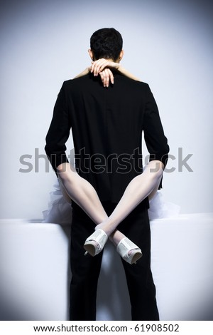 Basic instinct. Man and woman - stock photo