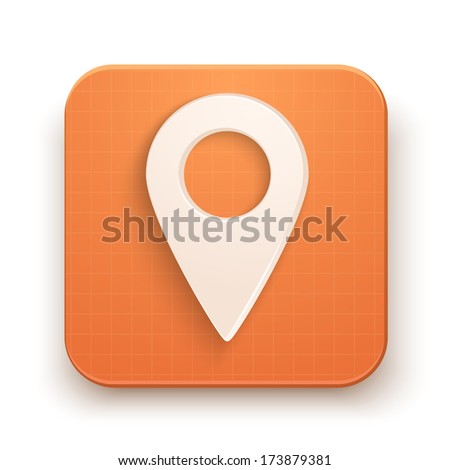 Basic map marker Flat simple icon set for Web and Mobile Application. Illustration of checkpoint. Vector, editable and isolated. - stock photo