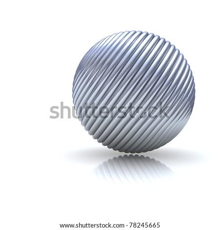 basic metal sphere background - stock photo