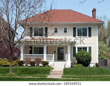 Basic Two Story House - stock photo