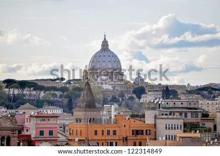 Basilica church of Saint Peter (San Pietro), Rome, Italy - stock photo