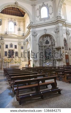 Basilica Church of St. Giovanni Battista. Lecce. Puglia. Italy. - stock photo