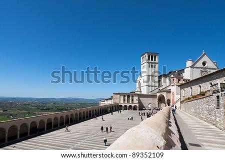 Basilica di San Francesco, Assisi - stock photo