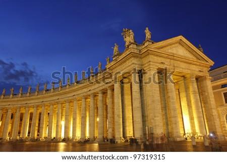 Basilica di San Pietro Vatican Cathedral, Rome Italy - stock photo