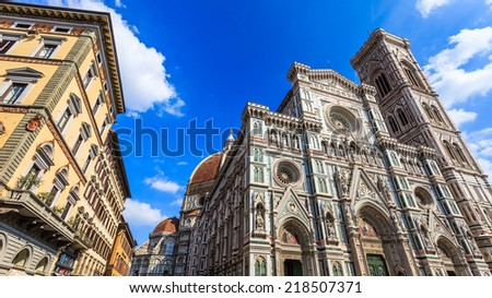Basilica di Santa Maria del Fiore in Firenze, Italy. - stock photo