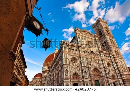 Basilica di Santa Maria del Fiore in Firenze, Italy. - stock photo