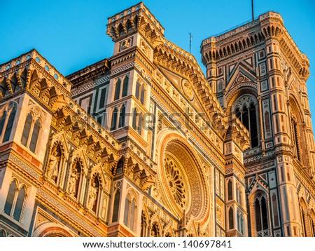 Basilica di Santa Maria del Fiore in Florence, Italy. - stock photo