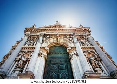 Basilica di Santa Maria della Salute Church, Venice, Italy - stock photo