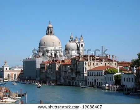 Basilica di Santa Maria della Salute in Venice - stock photo