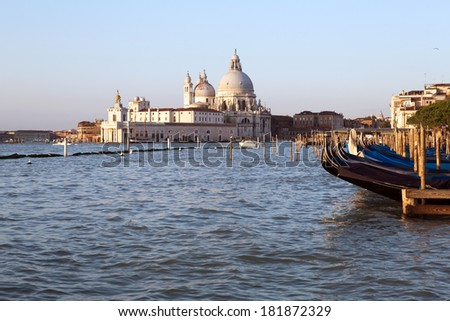 Basilica di Santa Maria della Salute in Venice, Italy - stock photo