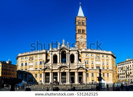 Basilica di Santa Maria Maggiore is Papal major basilica and largest Catholic Marian church in Rome, Italy. Basilica is located at 34 Piazza del Esquilino, southwest of Stazione Termini.