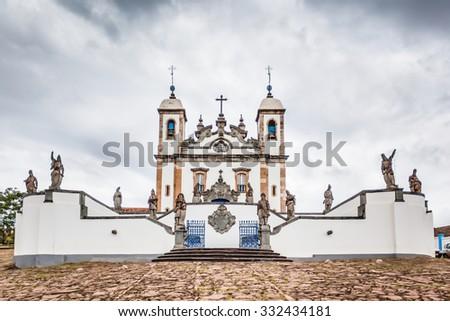 """Basilica named """"Bom Jesus de Matosinhos"""" - Congonhas - Minas Gerais - Brazil - stock photo"""