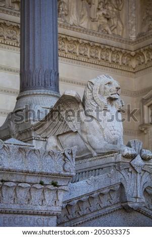 Basilica Notre-Dame de Fourviere, historic district of Vieux Lyon, UNESCO World Heritage, Lyon, France, Europe - stock photo