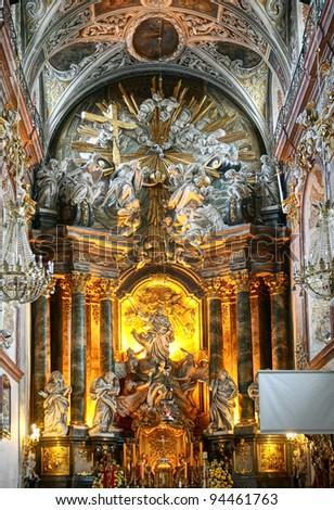Basilica of Jasna Gora in Czestochowa Poland - stock photo