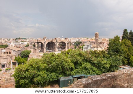 Basilica of Maxentius and Constantine is an ancient building in the Roman Forum, Rome, Italy.