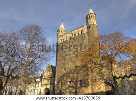 Basilica of Our Lady in Maastricht, Holland - stock photo