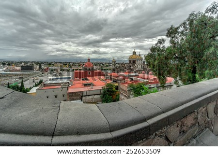 Basilica of Our Lady of Guadalupe in Mexico city - stock photo