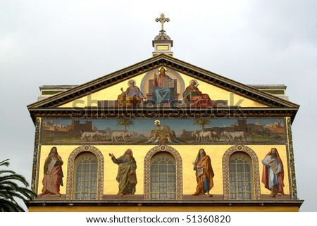 Basilica of Saint Paul Outside the Walls - stock photo