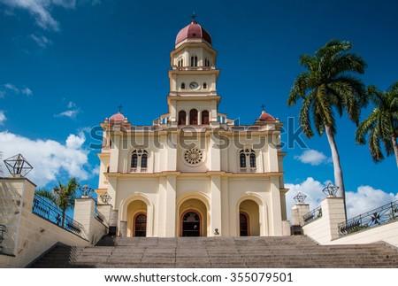 Basilica of Saint Virgin el Cobre in Santiago de Cuba, Cuba - stock photo